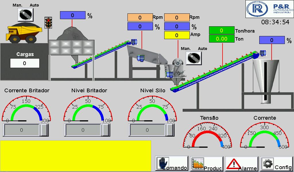 Automação Planta de Britagem_Solução em controle de nível